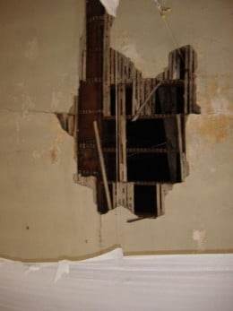 Damage to plaster and lathe can be fixed.