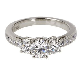 Buy Platinum Round 3-Stone Diamond Ring