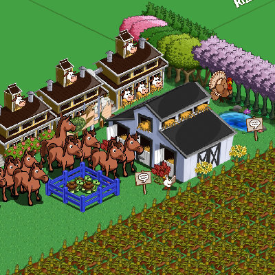 A screenshot of the Horse Stable, whoa this takes 50 materials to get this assembled.