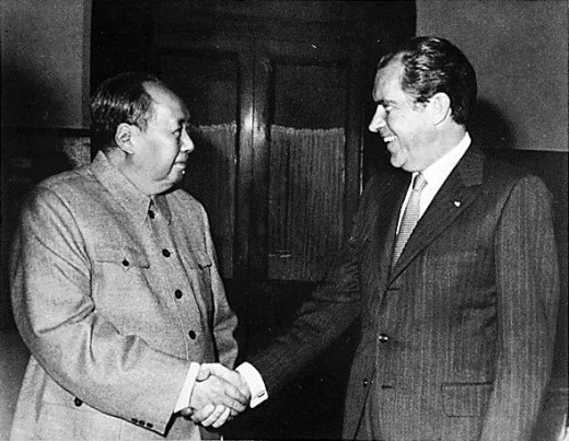 Public Domain Photo of Chairman Mao Zedong and President Richard Nixon