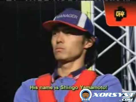 Shingo Yamamoto prepares to compete.