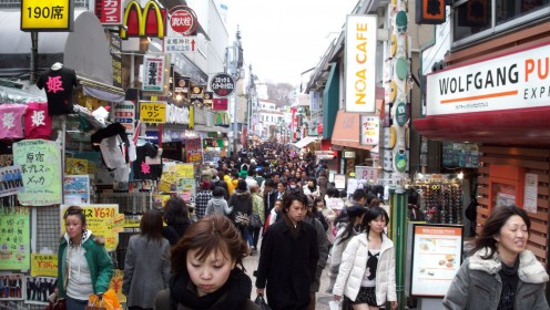 Takeshita-dori, a shopping wonderland on a pedestrian-only street - and it's a good thing, because where could you possibly fit a car?!