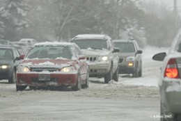 Traffic in Severe Weather Condition (Flickr)