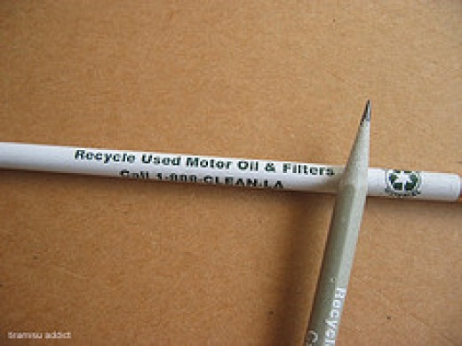 Pencils Made of Recycled Materials (Flickr)