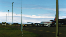 Lan Chile plane on the Easter Island airport