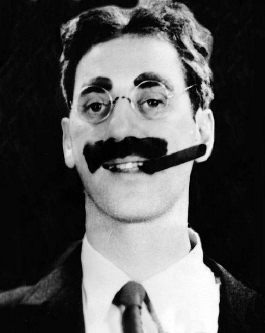 Groucho Marx. A public domain image from Wikimedia Commons.