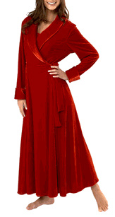 Lux velour with satin trin - photo credit: pajamagram.com