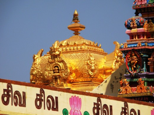 The Golden top of the temple