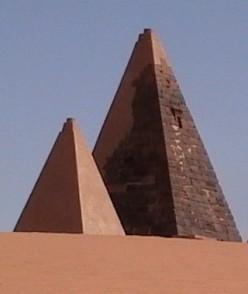 Nubian pyramids.