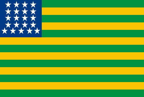 First Brazil Republic's flag. Inpired in the USA flag