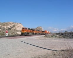 Train Watching In the Rugged Cajon Pass of California