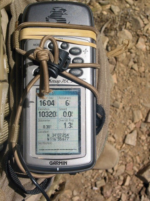 This is what a GPS device looks like. See the elevation it has recorded?