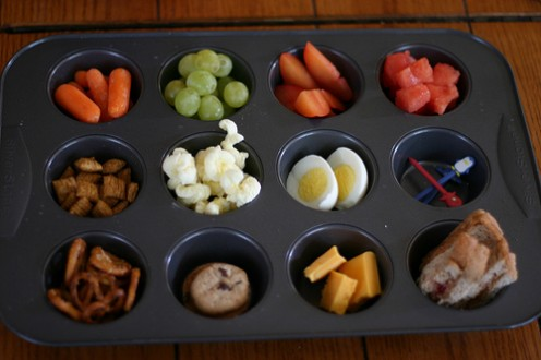 Muffin tin meals; kids love to eat like this - you could also use an ice cube tray! (See #4 just below)