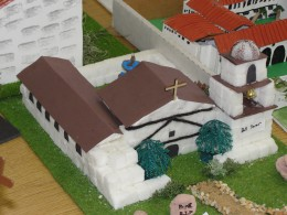 Mission made from sugar cubes - how clever!