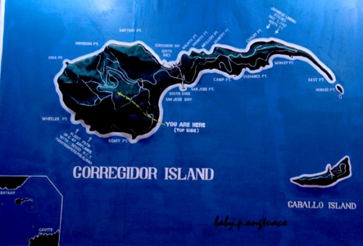 Map of Corregidor
