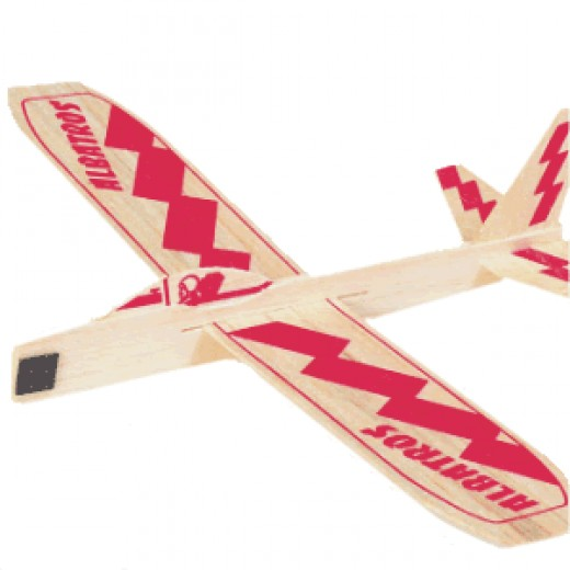 Balsa wood glide plane model