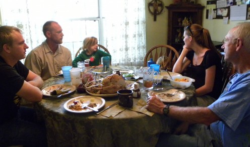 Family dinners may be difficult for the patient who has cancer.