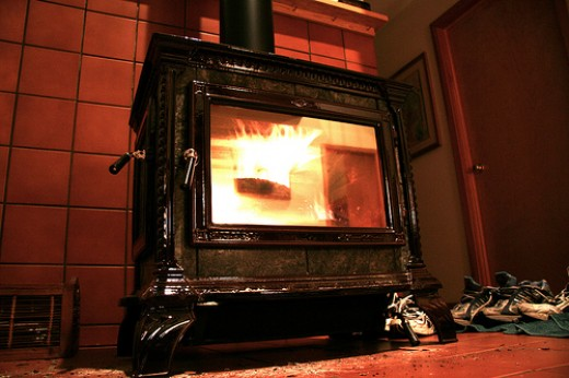 Many Vintage and Modern Wood Stoves are Not High Efficiency.  Photo Courtesty of Dan Phiffer http://www.flickr.com/photos/dphiffer/81910028/ under Creative Commons Attribution License