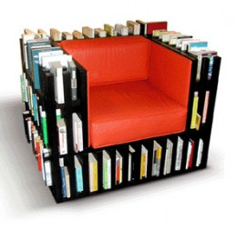 A Chair Made From Books - Pick A New Book Without Leaving Your Chair