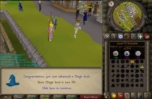 Congratulations on your 99 magic!