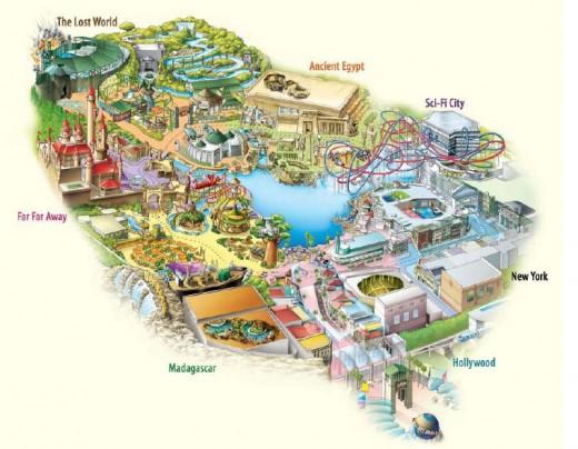 Map of Universal Studios Singapore