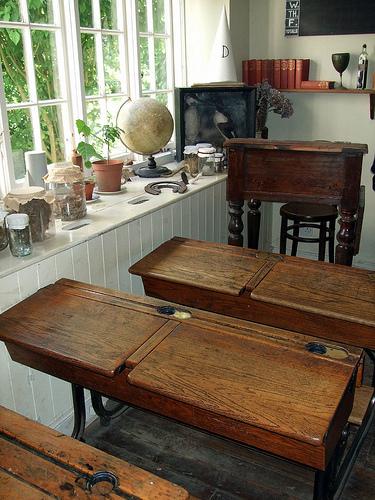 Not all Victorian era writing desks were fancy.