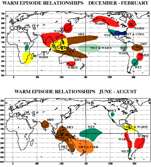 REGIONAL IMPACTS of El Nino (Courtesy of http://wpcontent.answers.com/)