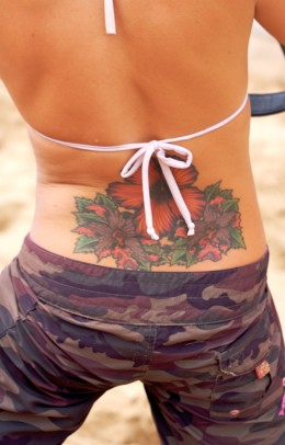 Flower tattoos can have many different meanings.