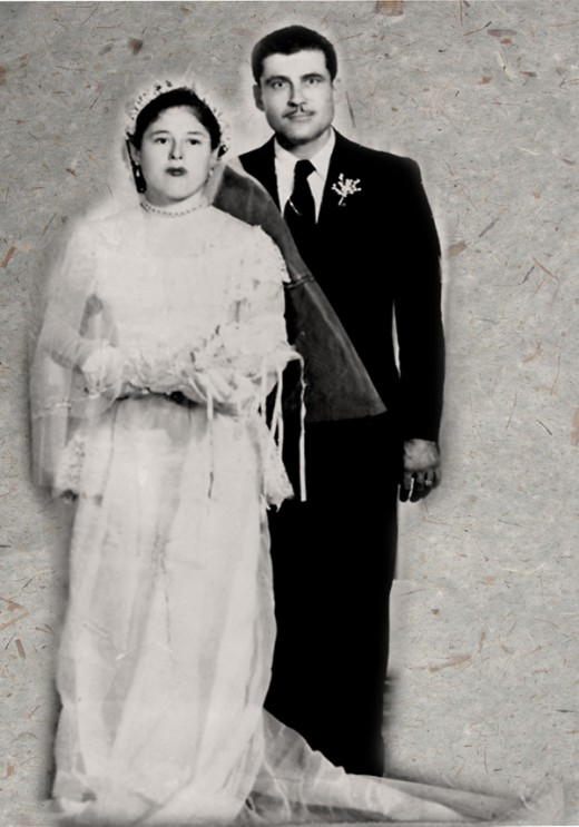 My mom and dad on their wedding day.