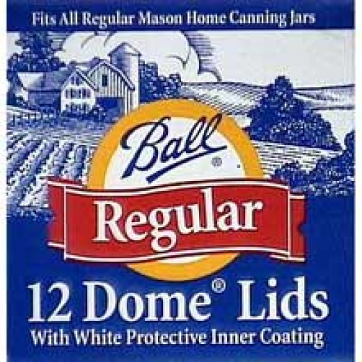 Box of Dome Canning Lids for Mason Jars