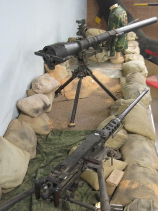 Vientam War Base Camp Machine Gun Post -Typical Perimiter Security for Base Camp