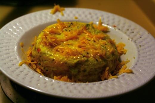 Broccoli cheddar omelet  http://www.flickr.com/photos/theskinimin/2546832298/