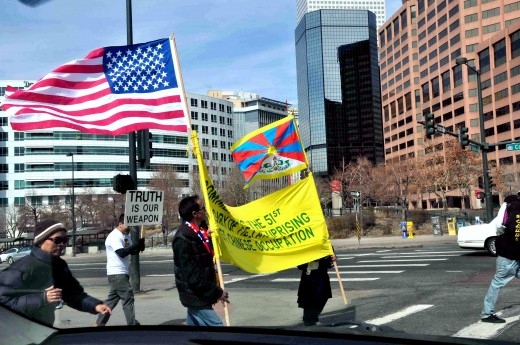 Denver is a city vibrant in many ways, and on this particular afternoon, a Free Tibet demonstration was working its way to the Capitol.