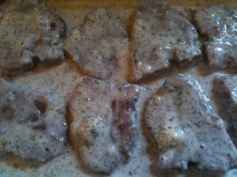 In the marinade - let them sit!