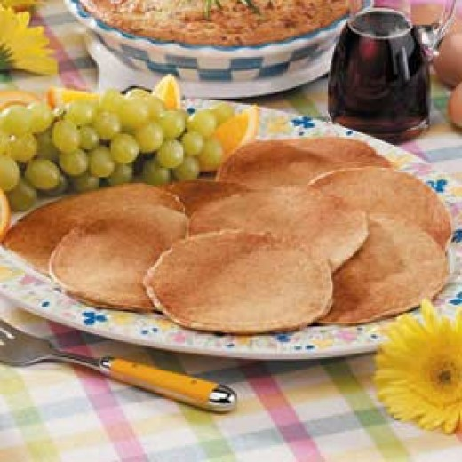 Low fat wheat pancakes