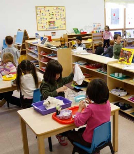 A Montessori classroom.