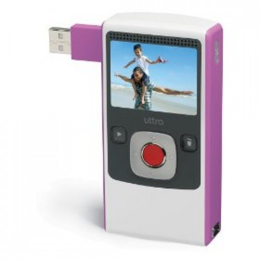 Pink Flip Mini Camcorder Ultra