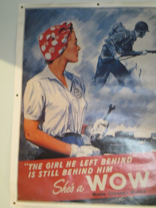 World War II Poster Promoting Women Ordinance Workers