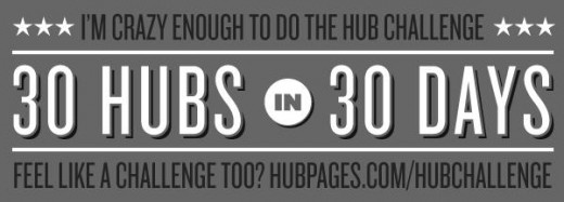 HubPages Graphic for those accepting challenge to write 30 Hubs in 30 Days