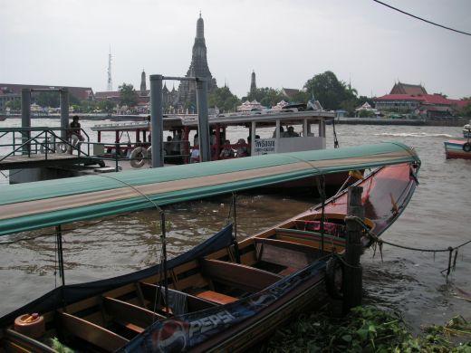 Boat on Chao Praya river