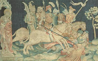 A section of the Apocalypse Tapestry