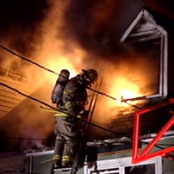 House fire in St. John's -- an all-too-common scene in virtually every community requiring a rapid response by local fiire departments.