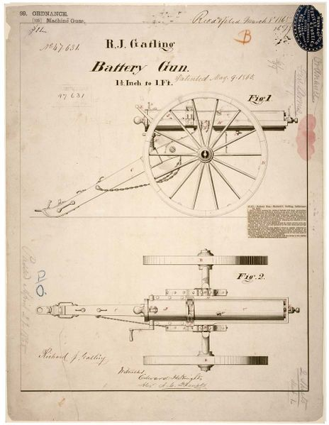 Patent drawing from 1865