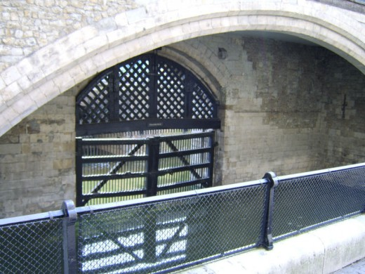The Traitors Gate, seen from inside the tower walls