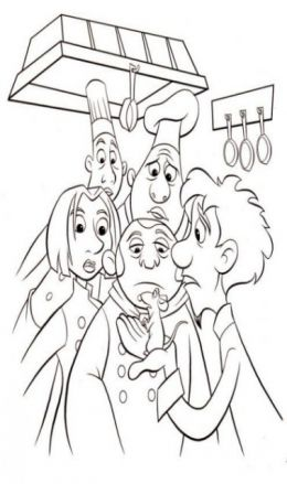 Chef Ratatouille Kids Coloring Pages with Free Colouring Pictures to Print
