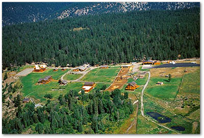 Echo Valley Ranch arial view