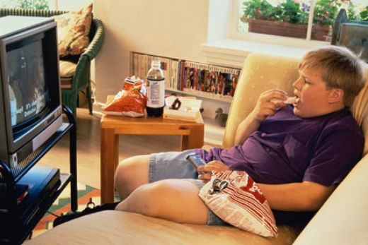 avoid the following activities, munching on junk foods near a TV and too much sitting down in front of the box