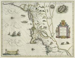 Nova Belgica et Anglia Nova, engraved in 1635 by Willem Blaeu