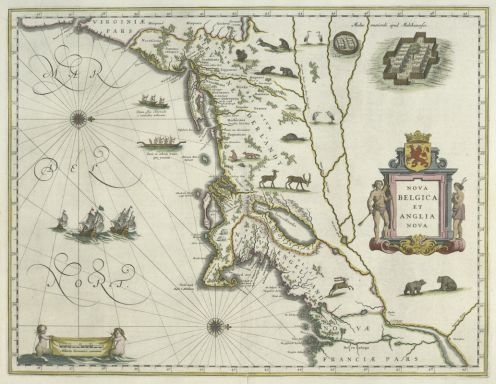 Nova Belgica et Anglia Nova, engraved in 1635 by Willem Blaeu