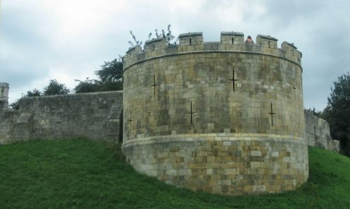 Walls. Tower. York. Copyright Tricia Mason